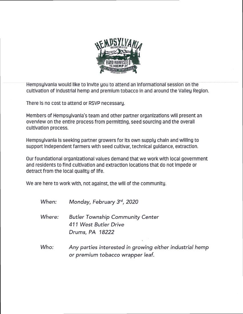hempsylvania information session